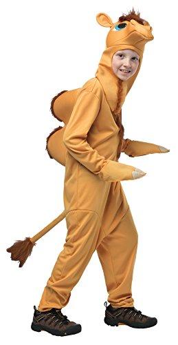 UHC Boy's Camel Outfit Animal Theme Fancy Dress Child Halloween Costume, Child M (7-10)