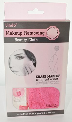 Lindo Makeup Removing Beauty Cloth With Suction Cup Holder - Color May - Linda La