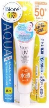 New Biore Uv Aqua Rich Watery Mousse Sunblock Sunscreen Face SPF 50 Water Base