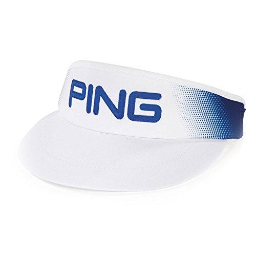 Ping Mens Visor - Ping 2017 HAT DOT FADE VISOR 164 WHT/RYL-33405-02