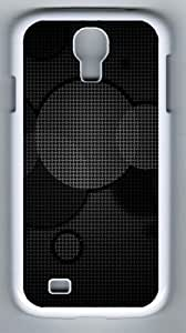 Samsung Galaxy S4 Case and Cover - Textured Circles Abstract Designer PC Case Cover For Samsung Galaxy S4 / SIV / I9500 - White