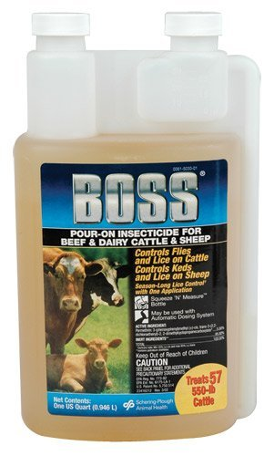 Boss Pour On qt. Cattle Insecticides