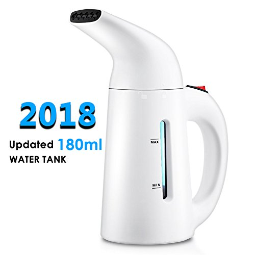 : Travel Garment Steamers for Clothes, Updated 180ml Fast-Heat Portable Garment Steamer Travel Steamer Handheld Fabric Steamer Perfect for Home and Travel, Travel Pouch and Heat-resistant Glove Included