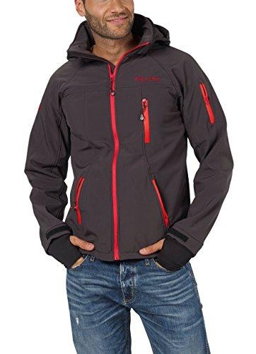Softshell-Jacke Outdoor-Jacken Herren von Fifty Five - Alert anthracite/red XL - FIVE-TEX Membrane für Outdoor-Bekleidung