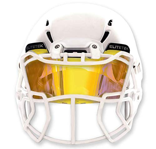 EliteTek Yellow Football Visors for Helmet Tinted - Fits Kids/Youth & Adult - Eye Protection Prevent Eye Pokes(Clear Yellow Colored).