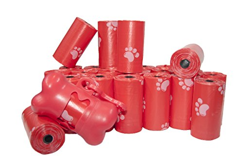 Best Pet Supplies, Inc. Scented Refill Rolls/Poop Bags with Free Dispenser - Red (360 Bags)