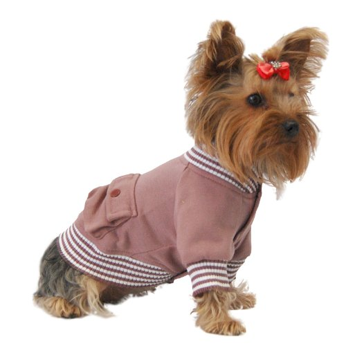 Anima Red Poly Cotton Blend Sailor Jacket, Snap Button Closure, X-Small, My Pet Supplies