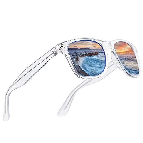 LR Polarized 80's Retro Classic Trendy Stylish Sunglasses for Men Women 53mm NCS004 ()