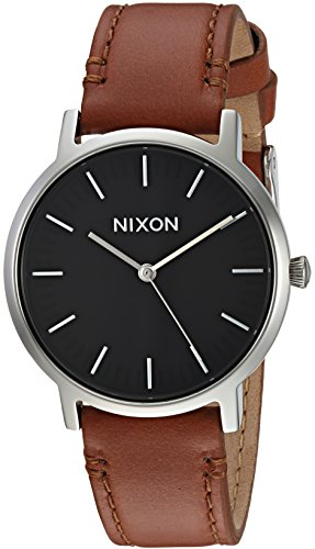 Nixon-Mens-Porter-35-Leather-Quartz-Stainless-Steel-Casual-Watch-ColorBrown-Model-A11991037