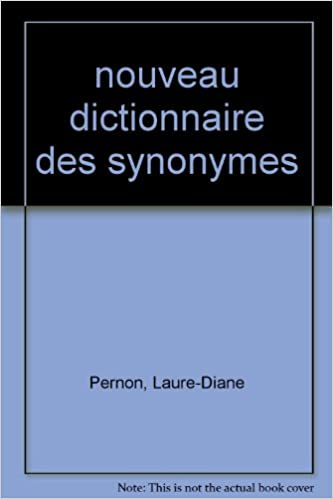 Nouveau dictionnaire des synonymes pdf ebook