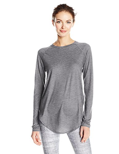 Under Armour Breathe Women's LS Open Back Top - SS17 Carbon Heather/Tonal