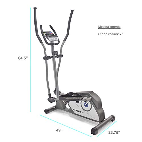 Marcy Magnetic Elliptical Trainer Cardio Workout Machine with Transport Wheels NS-40501E by Marcy (Image #5)