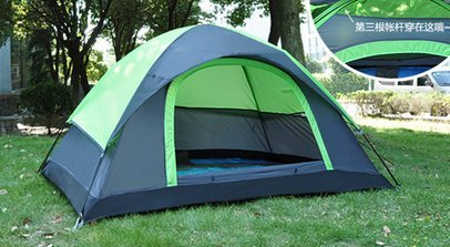 Outdoor camping tent super light couples prevent rain from double double camping tent