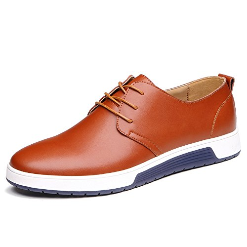 Jtomoo Men's Leisure Style Lace-up Oxford Shoes Faux Leather Shoes by Jtomoo