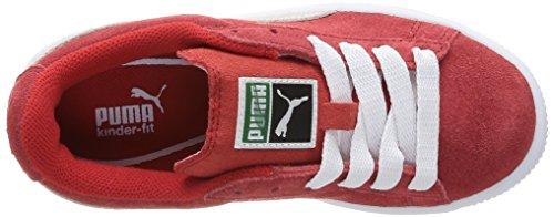Puma Suede Jr - Zapatillas de Deporte de ante niño High Risk Red/White