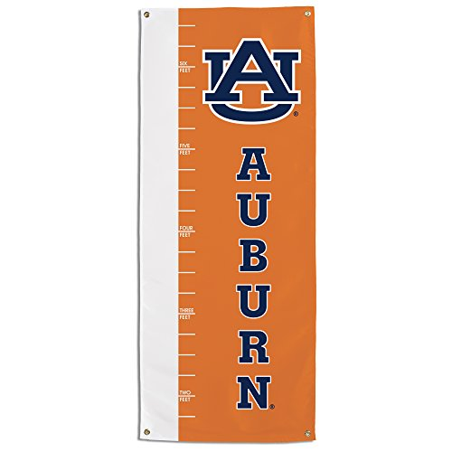 (NCAA Auburn Tigers Growth Chart Banner, Orange)