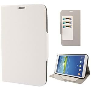 """Galaxy Tab 3 ( 8 """") de cuero protector de la cubierta del caso (PU ) Blanco """" Textura suave """""""