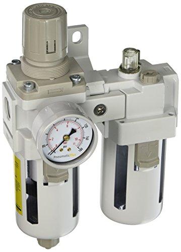 PneumaticPlus SAU4010M N04BG Regulator Lubricator Combination
