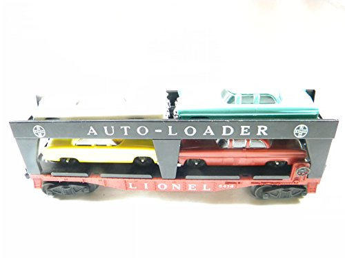 Lionel 6414 Evans Auto Loader with 4 Madison Hardware Premium Autos 1950's Lionel O Gauge