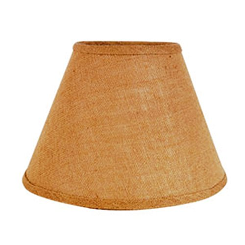 Natural Cone Shaped 12 x 8 inch Burlap Lamp Shade (Basket Lamp Shade)