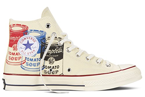 Converse Zapatillas abotinadas All Star Prem Hi 197'S Warhol Blanco / Multicolor EU 43 (US 9.5)