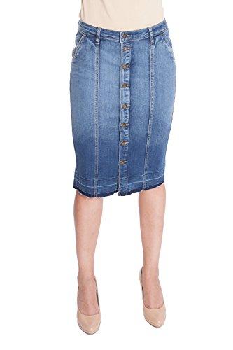 Esteez Jean Skirt for Women Stretch Denim MONTREAL BLUE 10