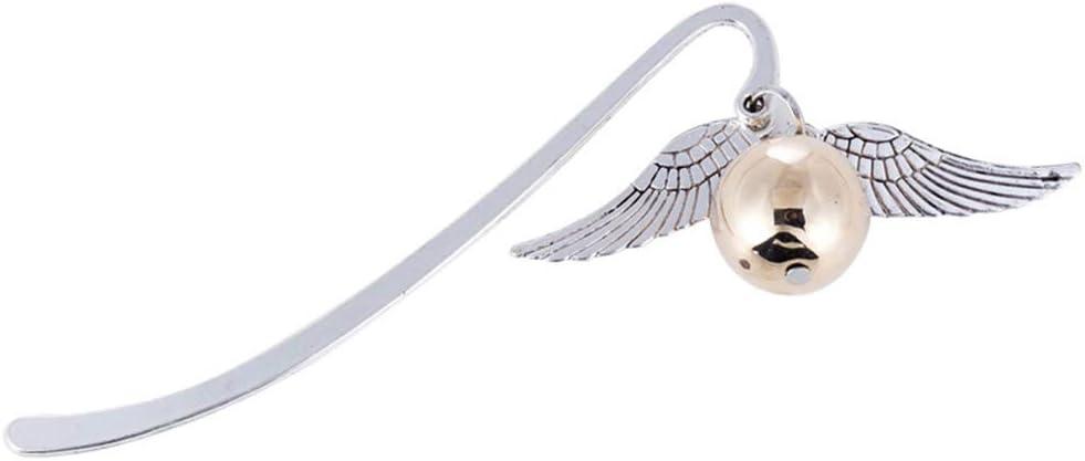 1 Pc retro de la aleación del metal del ala Marca Oro mejor regalo para el lector Snitch Harry marca de libro de Harry Potter Favorito
