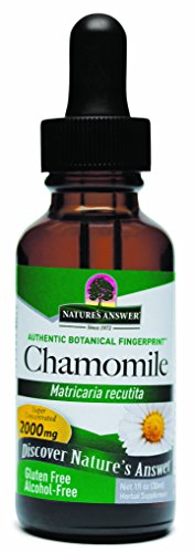 Nature's Answer Alcohol-Free Chamomile Flower, 1-Fluid Ounce Chamomile Tincture