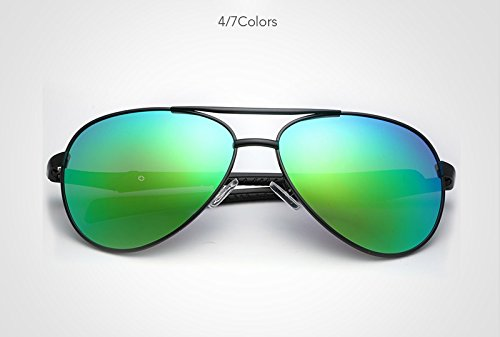 de de Green Diseño polarizadas Moda Sol XZP Gafas conducción Metal Gafas para la Gafas Marca Hombres Piloto polarizadas Hombres Gafas Sol Borders de de UV400 Ciclismo xnBxEWZY