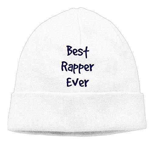 Aiw Wfdnn Beanie Hat Best Rapper Ever Hiphop Knit Cap for Men's White