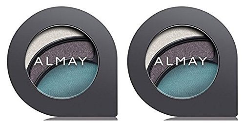 Cosmetics by Almay Intense I-Color Eyeshadow, Evening Smoky For Hazel Eyes #150 (Pack of 2) Eye Shaped Compact for Quick and Easy Application, Neutral Colors to Intensify Eye Color, Crease-Resistant