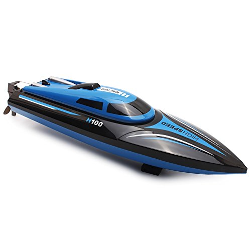 Nitro Speed Boat - RC Boat with LCD Screen, 2.4GHz 4 Channel High Speed Remote Control Boat, Radio Control Boat For Pools and Lakes