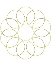 Binchil 10 Pack 3 Inch Gold Dream Catcher Metal Rings Hoops Macrame Ring for Dreamcatchers and Crafts