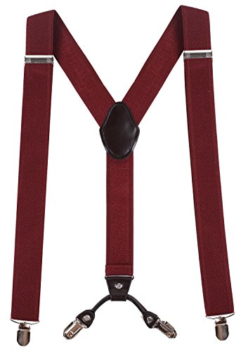 WDSKY Mens Suspender for Men Men's Suspenders with Clips Wide Suspenders - To Snowboard A How Turn