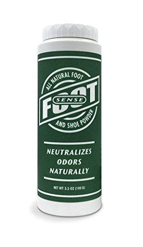 (FOOT SENSE All Natural Smelly Foot & Shoe Powder - Foot Odor Eliminator lasts up to 6 months. Safely kills bacteria. Natural formula for smelly shoes and stinky feet. (1 Pack))