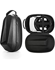 Esimen Travel Case for Oculus Quest 2 Head Elite Strap and Oculus Quest 2 VR Headset All-in-One Storage Bag Modern Carrying Case fit Oculus Quest 2 Accessories (Black Case)