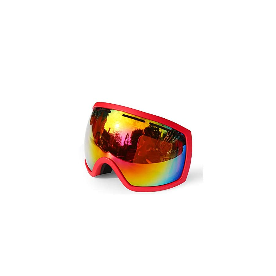 He yanjing Winter Adult ski Equipment ,Ski Goggles Anti Fog Double,Outdoor ski Goggles ,Fashion Outdoor Hiking ski Goggles ,Coke Myopia Goggles