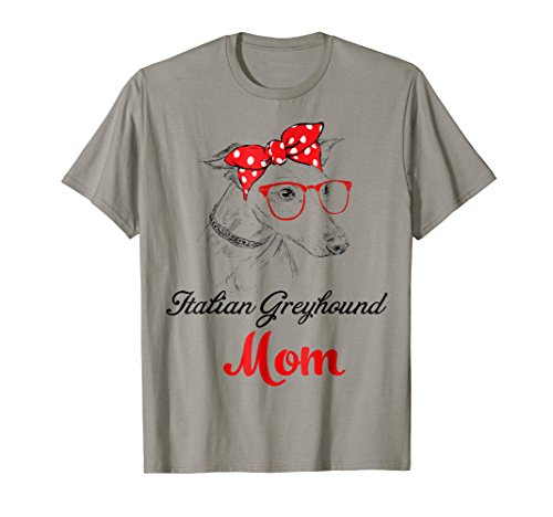 Italian Mom (Funny Italian Greyhound Mom Wears Bandana & Glass Shirt)