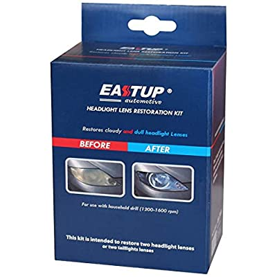 EASTUP 80011 Headlight Lens Restoration Kit Restore Cloudy and Dull Headlights, Taillights, Fog Lights and Directional Lights with Exclusive UV Block Clear Coat: Automotive