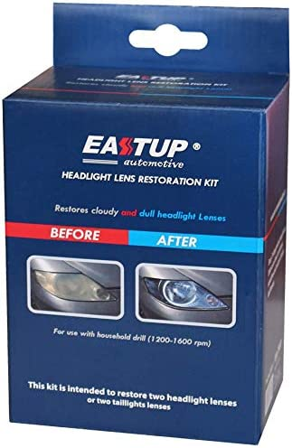 B07Y2WPF9T EASTUP 80011 Headlight Lens Restoration Kit Restore Cloudy and Dull Headlights, Taillights, Fog Lights and Directional Lights with Exclusive UV Block Clear Coat 41aRyHkpWlL