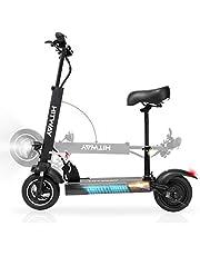 HITWAY Elektrische scooter met zitting, inklapbare elektrische offroad scooter 43 km/u, 800 W motor, opvouwbare step voor volwassenen en jongeren, maximaal 40 km bereik
