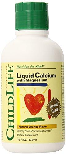 Child Life Liquid Calcium/Magnesium, Natural Orange Flavor, 16 oz 2-pack