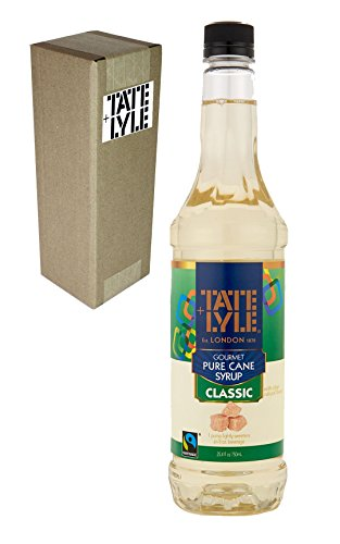 Tate+Lyle Fairtrade Pure Cane Sugar Classic Simple Syrup, 750mL (25.4 oz) Bottle, Individually Boxed