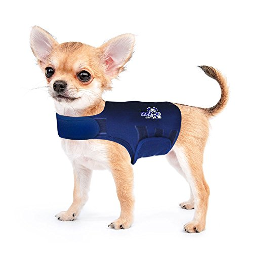 Image of Mellow Shirt Dog Anxiety Calming Wrap, XX-Small, Navy