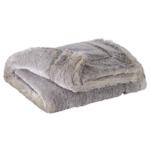 Ashley Blanket - Signature Design by Ashley Raegan Throw Pillow, Gray/Tan