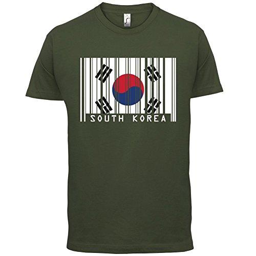 South Korea / Südkorea Barcode Flagge - Herren T-Shirt - Olivgrün - L