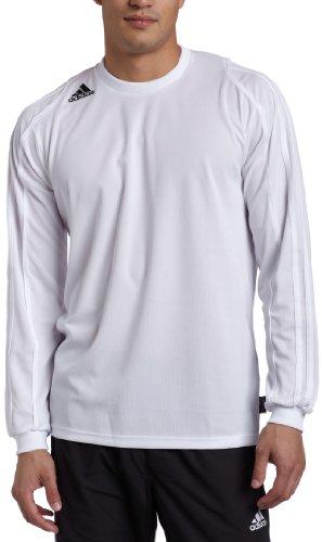 adidas Men's Squadra II Long-Sleeve Jersey, White, Small