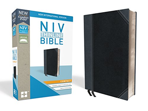 Niv Pocket Thin (NIV, Thinline Bible, Compact, Leathersoft, Black/Gray, Red Letter Edition, Comfort Print)