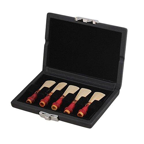 AOLVO lengüetas, tamaño mediano para Fagot cañas con control de humedad funda de almacenamiento para Oboe y Fagot,...
