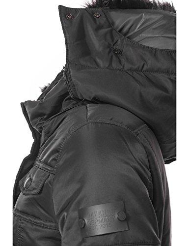 pour XXL Noir Dame Fausse en Une Sch matelasse XS Capuche d'hiver tzchen Navahoo Couleurs Veste Fourrure 8 avec H4wqTWXa